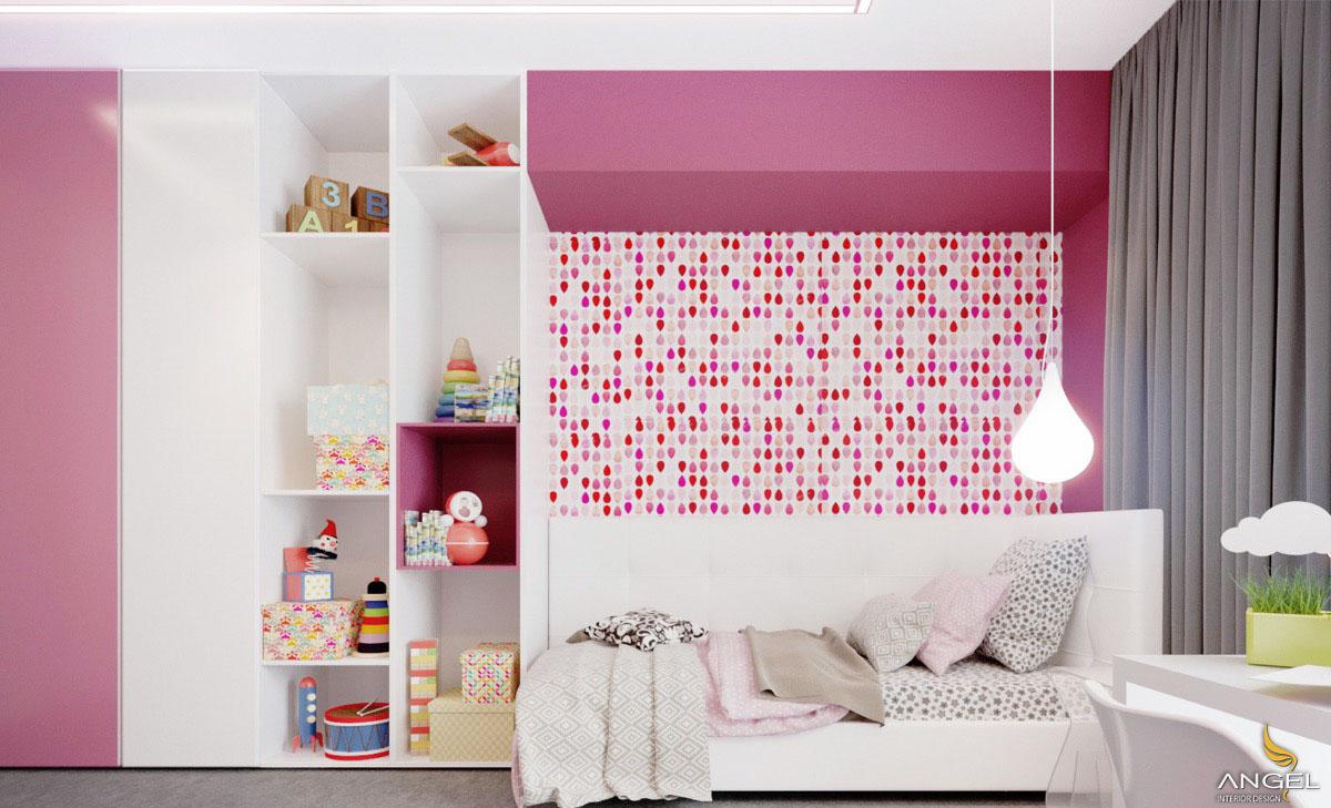 Thiết Kế Nội Thất Phòng Ngủ Con Gái Với Gam Màu Hồng Dễ Thương