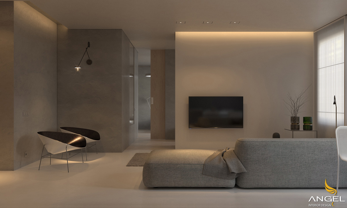 Interior design for rent with modern interior with golden light - Ms Kim