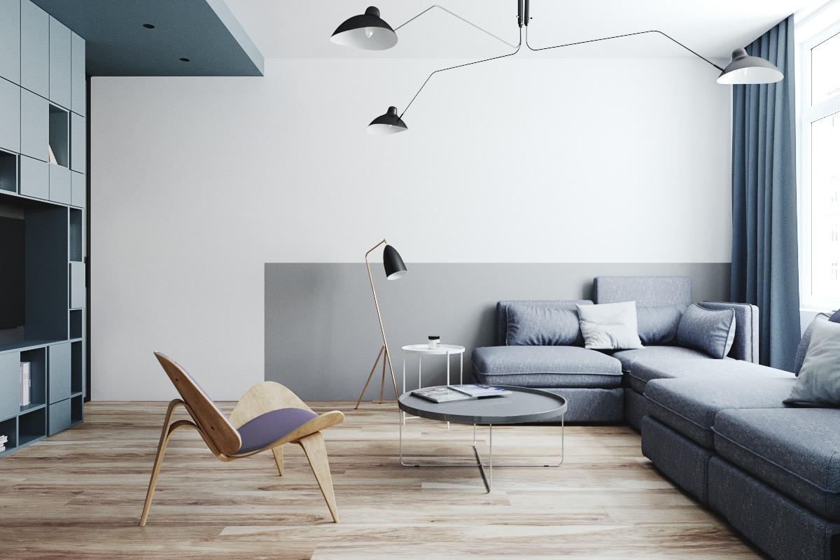 Minimalist interior design for small rental apartments